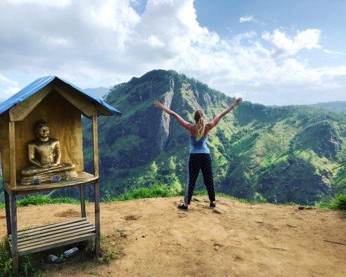 IVI volunteer in Sri Lankan hills
