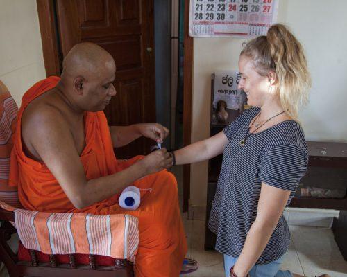 Sri Lanka experience- monk with IVI volunteer