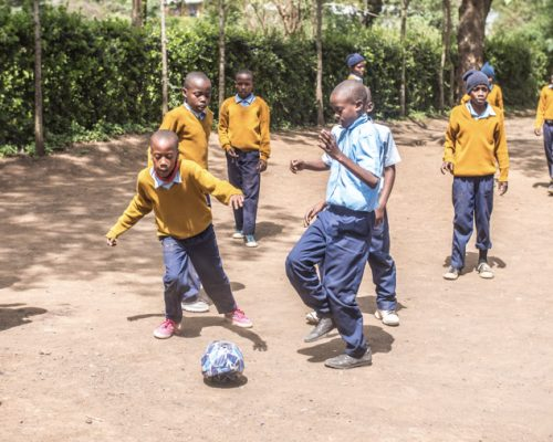 _Students playing football during break time (3)