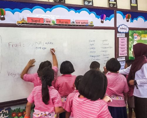 primary school children in Thailand