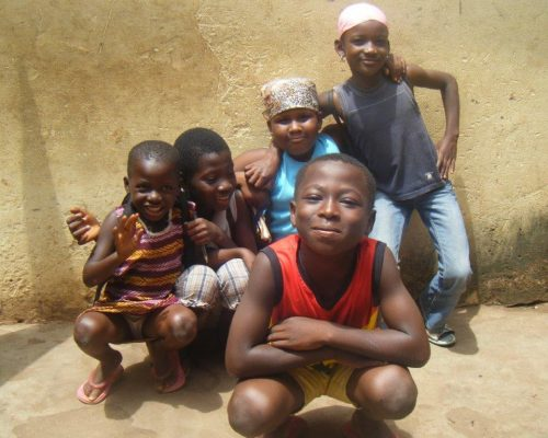 group of local boys in Ghana