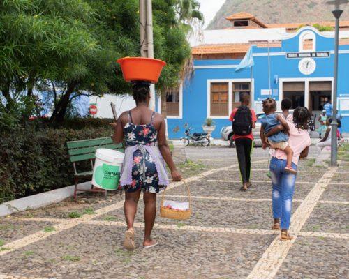 locals walking in Terrafal Town