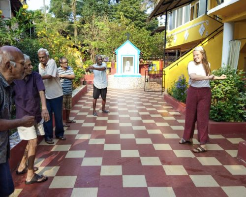 exercise at old peoples home