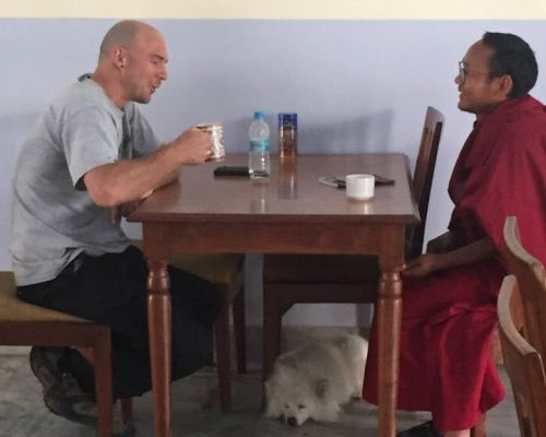 volunteering with monks nepal