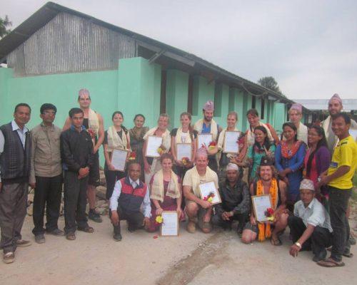 volunteering in nepal mountains