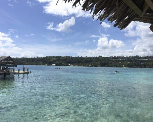 blue waters in Vanuatu