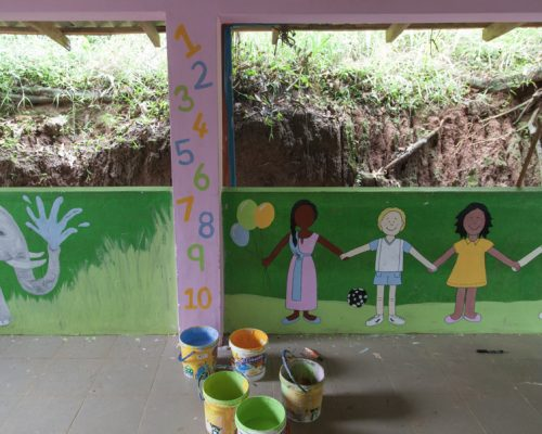 childrens section on community project