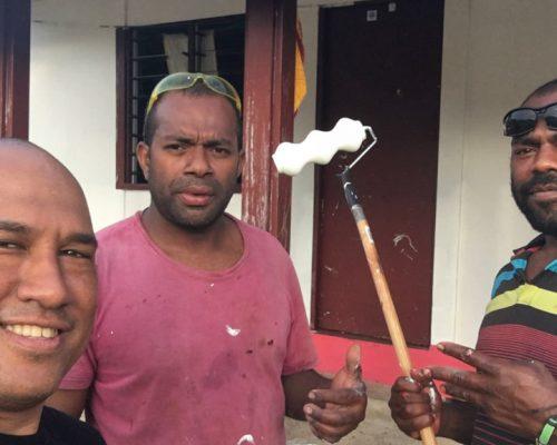 IVI Fiji volunteers