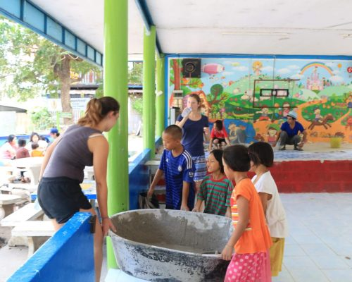 refurbishing the local primary school in singburi
