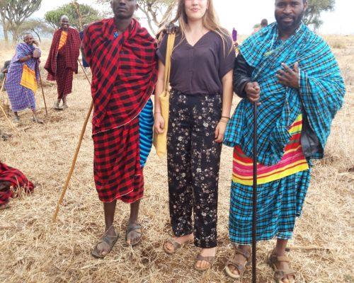 volunteer with local Maasai, Tanzania