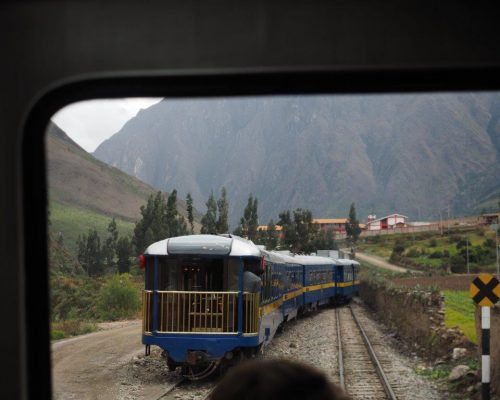 train travel in the andes is fun!
