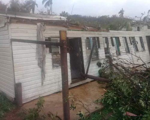 cyclone harold damage of building