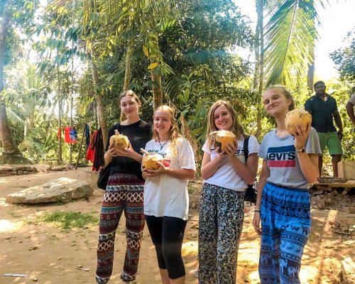 drinking from coconuts in Sri Lanka
