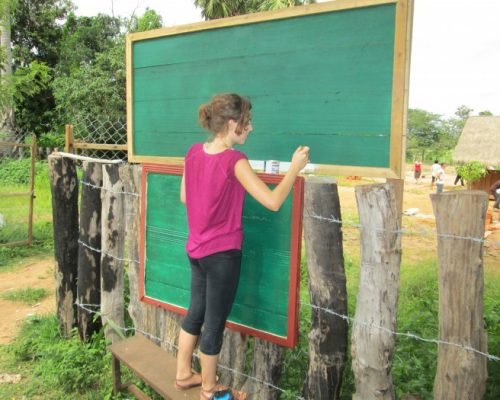 outdoor chalk boards