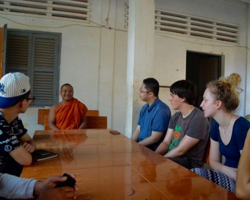 speaking to monks in cambodia placement