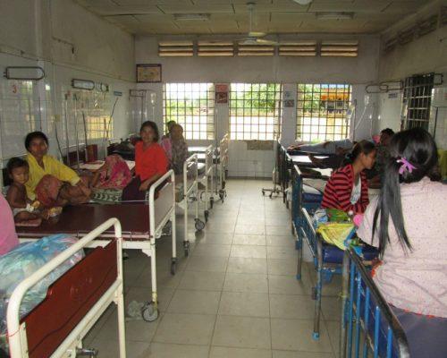 a busy hospital ward