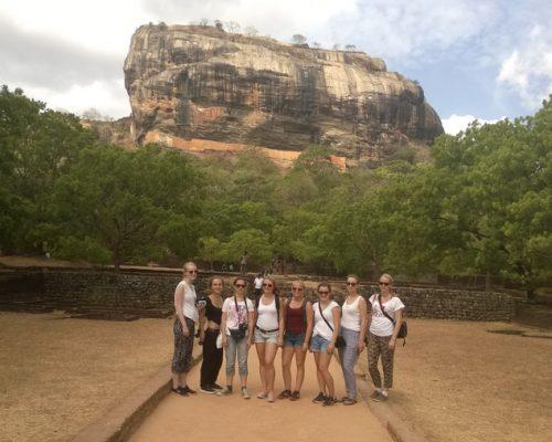 IVI group in front of sigiriya rock