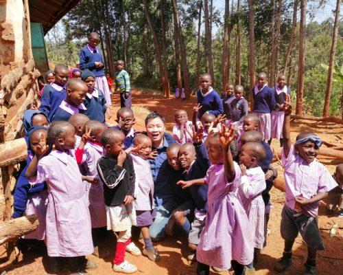 group of Kenyan school children-2