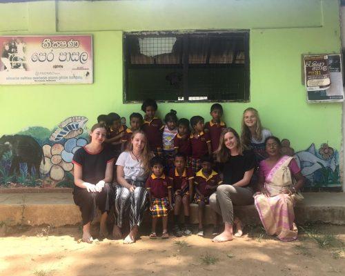 group of pre school children
