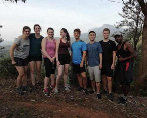 group on hill trekking week