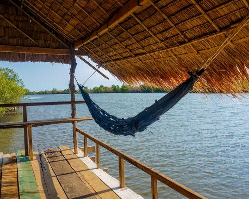 hammock overlooking river