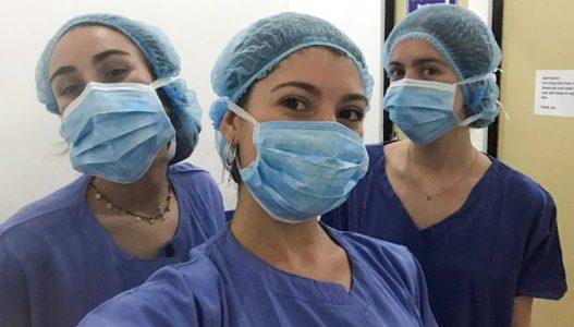 in scrubs, Sri Lanka