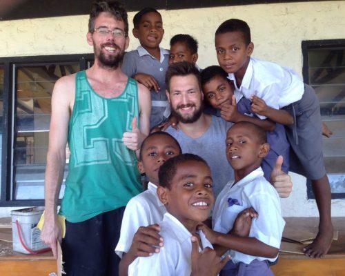 fiji island construction volunteering