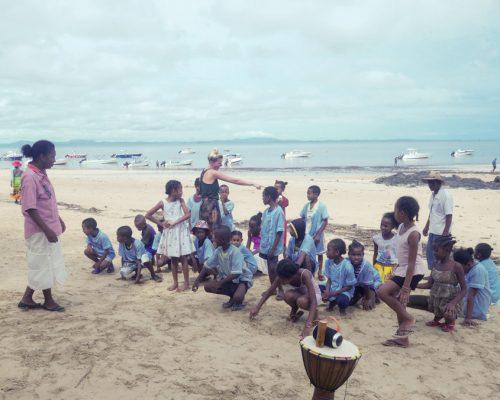 kindergarten on the beach