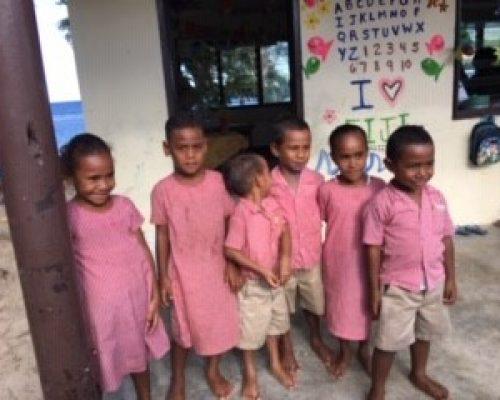 kindgarten children fijian volunteer placement