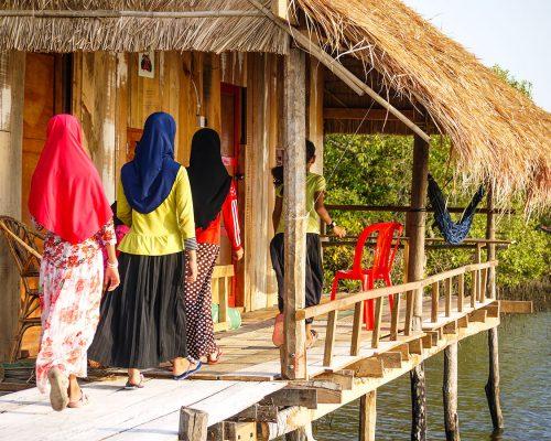 local house on stilts