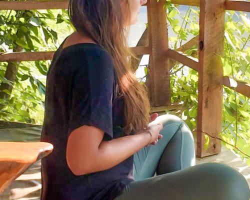 meditation at accomodation in Sri Lanka