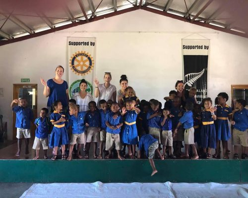 nutrition volunteers at school in vanuatu