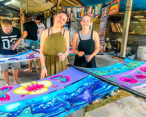 painting at workshop in Bali