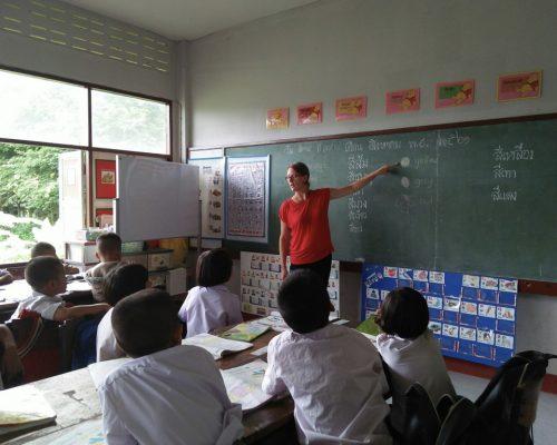 participant teaching the colours