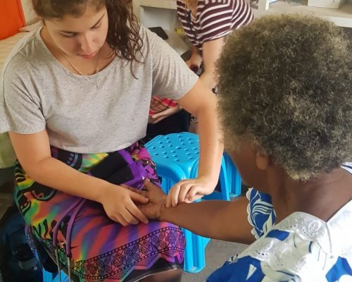 performing health checks south pacific islands