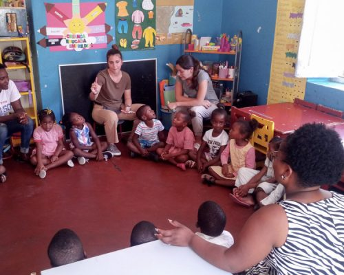 sitting in circle at kindergarten