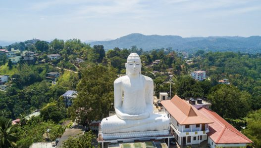 statue on top of hill Sri Lanka