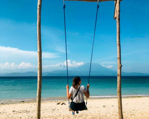 swing on beautiful beach