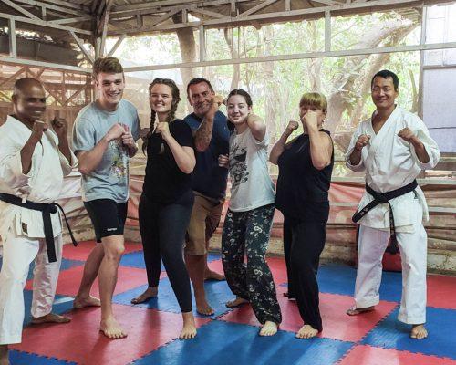 group at teakwondo class