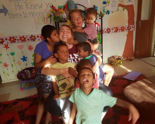 Taylor in fiji at the orphanage