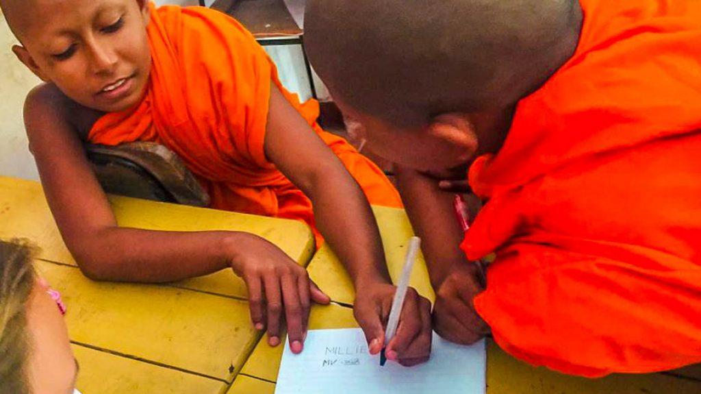 teaching Buddhist monks-2