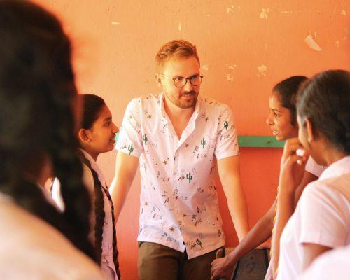 teaching older kids in Kandy