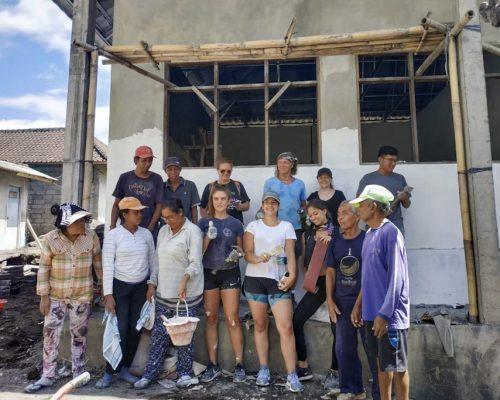 group shot at renovation site