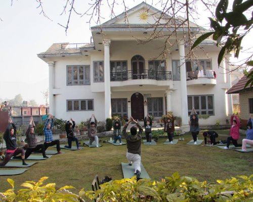 nepal yoga at the accommodation