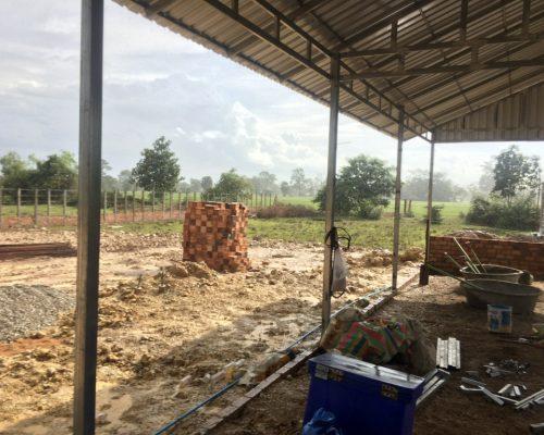wet construction area