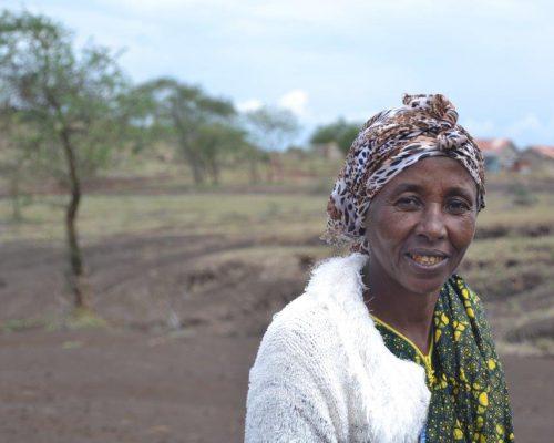smiling woman in Tanzania